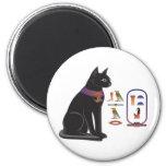 Egyptian Cat Goddess Bastet 6 Cm Round Magnet