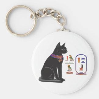 Egyptian Cat Goddess Bastet Basic Round Button Key Ring