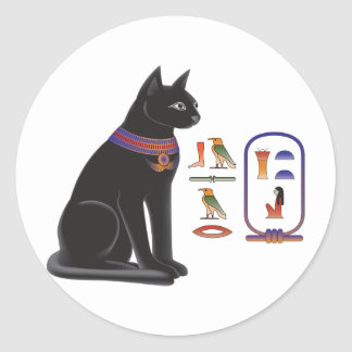 Egyptian Cat Goddess Bastet Classic Round Sticker