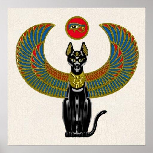 Egyptian Cat Goddess Poster