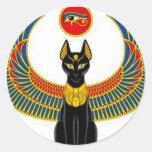 Egyptian Cat Round Sticker