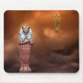 Egyptian coffin in the clouds mousepad