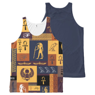 Egyptian Collage All-Over Print Tank Top