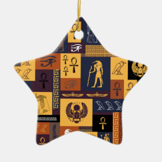 Egyptian Collage Christmas Ornament