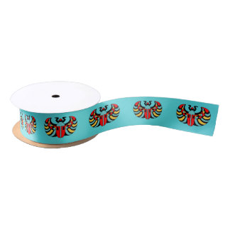 Egyptian Colorful Bold Vibrant Scarab Beetle Satin Ribbon