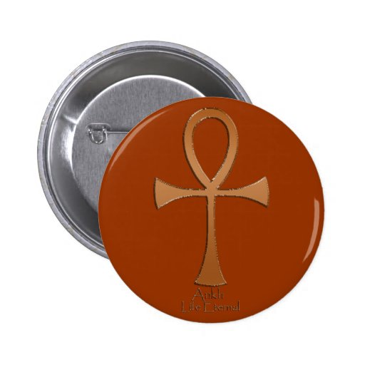 Egyptian Copper-effect ANKH Buttons
