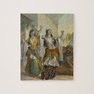 Egyptian Dancing Girls Performing the Ghawazi at R Jigsaw Puzzle