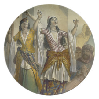 Egyptian Dancing Girls Performing the Ghawazi at R Plate
