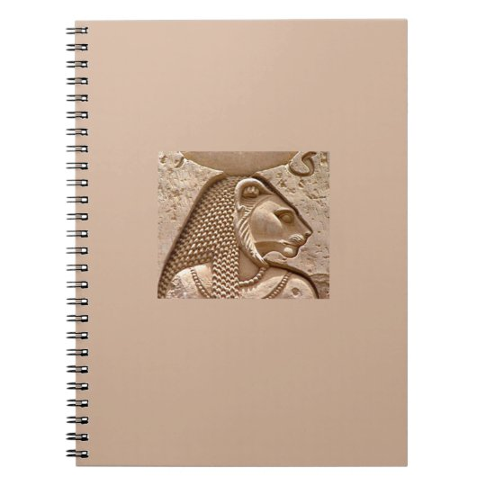 Egyptian Deity Sekhmet Spiral Notebook