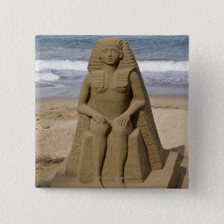 Egyptian design 15 cm square badge