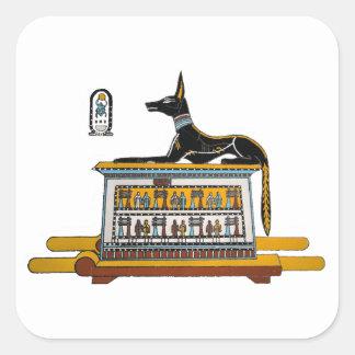 Egyptian Dog Square Sticker