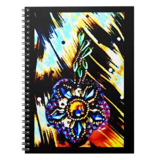 Egyptian Dress Decoration Spiral Notebook