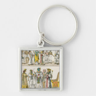 Egyptian Dress, from 'Trachten der Voelker' Key Ring