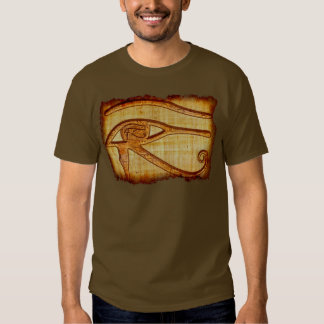 Egyptian Eye of Horus Ancient Papyrus Art Shirt