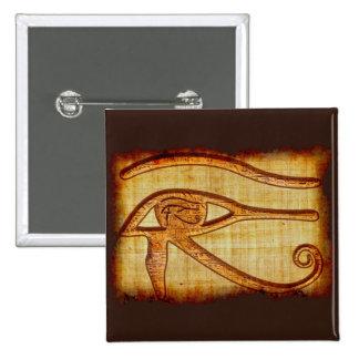 Egyptian Eye of Horus Ancient Papyrus-effect Art 15 Cm Square Badge