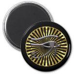 Egyptian Eye of Horus Gold and Black Fridge Magnet