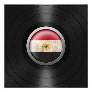 Egyptian Flag Vinyl Record Album Graphic Custom Announcement