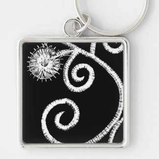 Egyptian Floral Design Key Ring