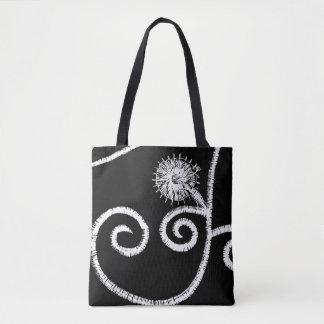 Egyptian Floral Design Tote Bag