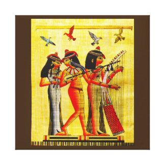 Egyptian Friendship Papyrus Stretched Canvas Print