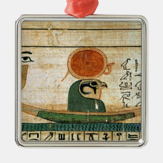 Egyptian funerary papyrus Silver-Colored square decoration