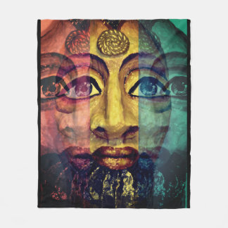 Egyptian goddess beautiful painting fleece blanket