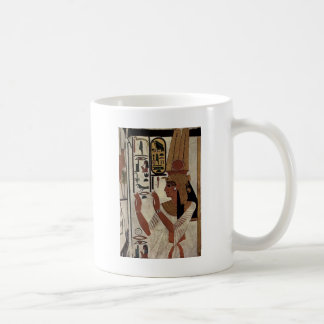Egyptian goddess hieroglyphics pattern coffee mug