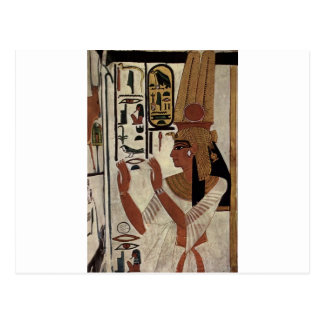 Egyptian goddess hieroglyphics pattern postcard