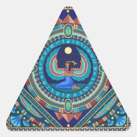 Egyptian Goddess Isis Triangle Sticker