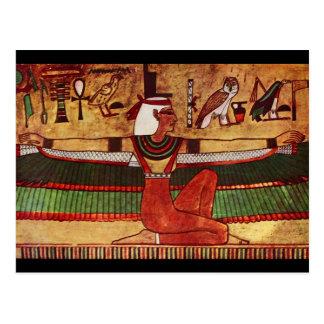 Egyptian Goddess Isis Wall Painting 1360 B.C. Postcard
