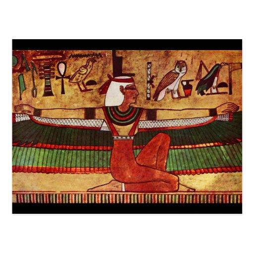 Egyptian Goddess Isis Wall Painting 1360 B.C. Post Cards
