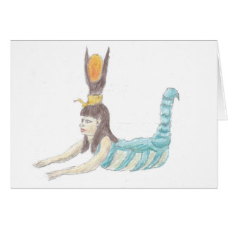 Egyptian goddess Selket notecard. Card