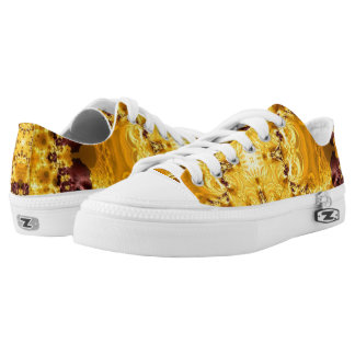 Egyptian Gold Art Design Zipz Low Top Shoes
