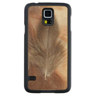 Egyptian Goose Feather Still Life Carved Maple Galaxy S5 Case