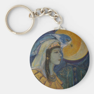 Egyptian Hawk Goddess Keychain