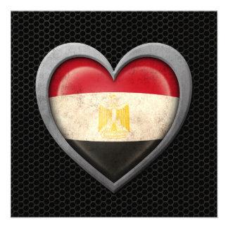 Egyptian Heart Flag Steel Mesh Effect Custom Announcement