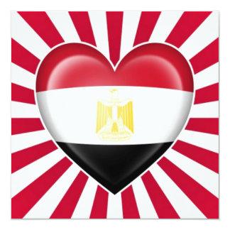 Egyptian Heart Flag with Star Burst Custom Announcements