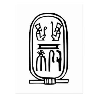 Egyptian hieroglyph postcard
