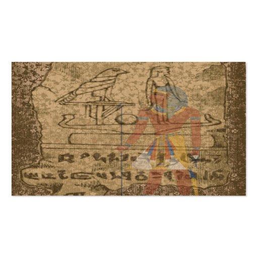 Egyptian Hieroglyphic Business Card Templates