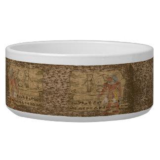 Egyptian Hieroglyphic Pet Bowl