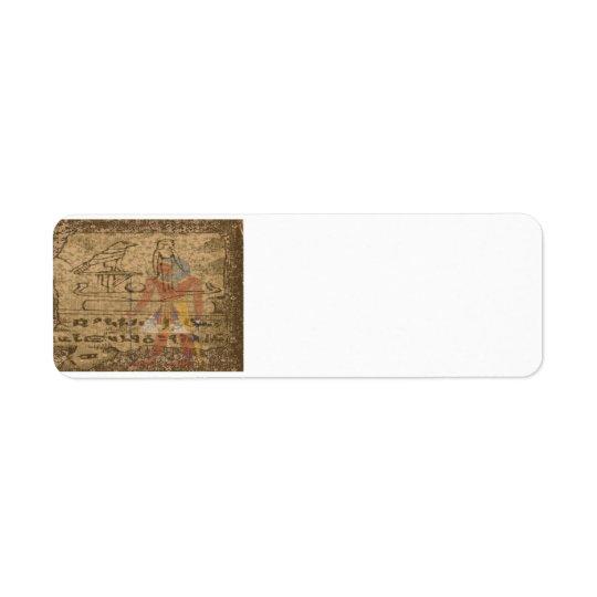 Egyptian Hieroglyphic Return Address Label