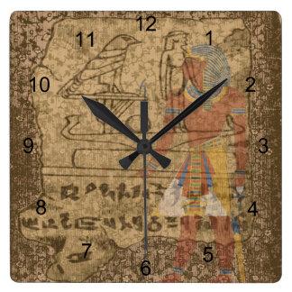 Egyptian Hieroglyphic Wallclocks