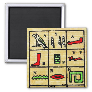 Egyptian Hieroglyphics, Alphabetic Symbols Magnet