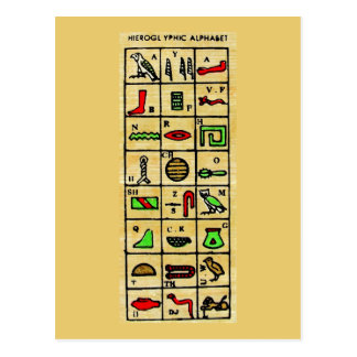 Egyptian Hieroglyphics, Alphabetic Symbols Post Cards