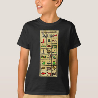 Egyptian Hieroglyphics, Alphabetic Symbols T-Shirt