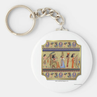 Egyptian Hieroglyphics Apparel, Gifts Collectibles Basic Round Button Key Ring