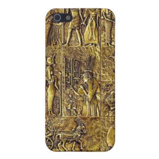 Egyptian Hieroglyphics Bronze Sculpture iPhone 5/5S Case