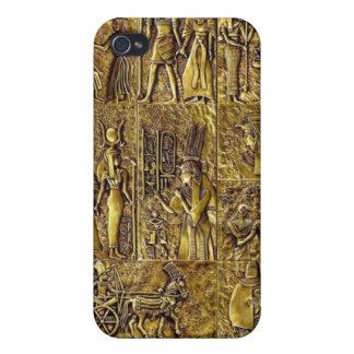 Egyptian Hieroglyphics Bronze Sculpture Case For iPhone 4