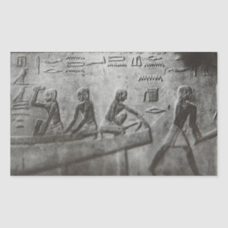 Egyptian Hieroglyphics Rectangular Sticker