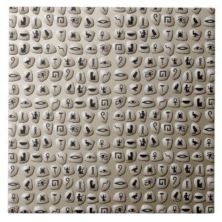 Egyptian Hieroglyphics Stones Pattern Tile